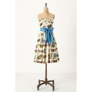 Anthro Maeve Lepidoptera Colorful Butterfly Dress